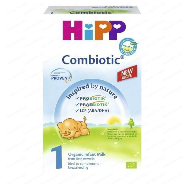 Hipp  Адаптирано мляко за кърмачета от първия ден след раждането  Combiotic 1 800г /нова формула/